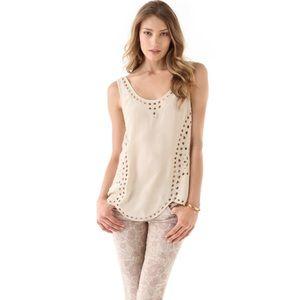 NWOT Joie Reena Embellished Beaded Silk Top